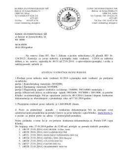 izvestaj komisije - Klinika za stomatologiju Niš
