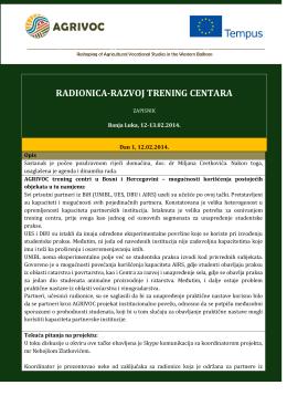 24.02.2014 01:21 Izveštaj sa 1. radionice o trening
