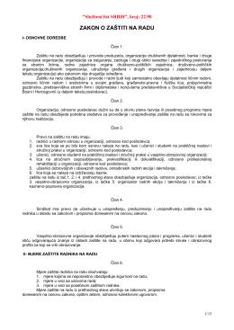 Zakon o zaštiti na radu, 22-90