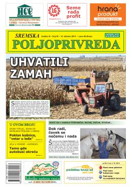 Sremska poljoprivreda broj 49 10. oktobar 2014.