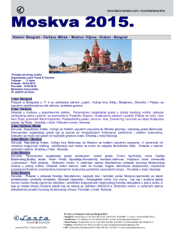 Aranžman u PDF formatu - Lasta Travel & Tourism Lasta Travel