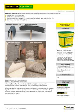 weber.tec Superflex D2 - Weber - lepila za keramiku, fasadni sistemi