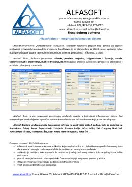 Preuzmite - AlfaSoft