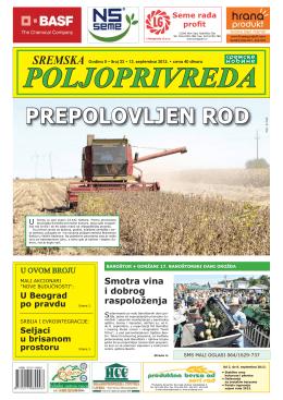 Sremska poljoprivreda broj 23 13. septembar 2013.