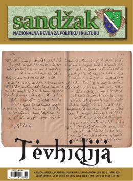 mjesečna nacionalna revija za politiku i kulturu «sandžak