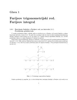Furijeov trigonometrijski red. Furijeov integral