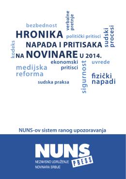 Hronika napada i pritisaka na novinare u 2014. godni