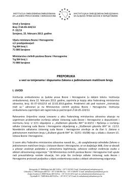 preporuka - Institucija ombudsmena/ombudsmana za ljudska prava