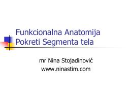Funkcionalna Anatomija Pokreti Segmenta tela