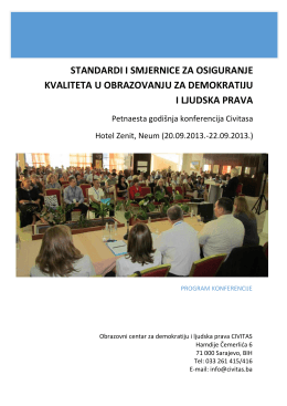 standardi za programe građanskog obrazovanja
