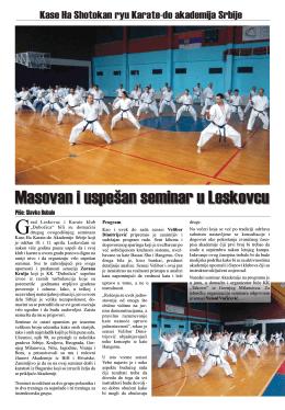 izveštaj leskovac - Kase Ha Karate