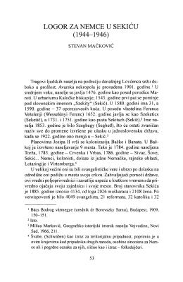 LOGOR ZA NEMCE U SEKIĆU (1944–1946)