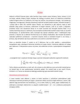 Jednom se Ričard Fejnman pitao, zašto hemičari