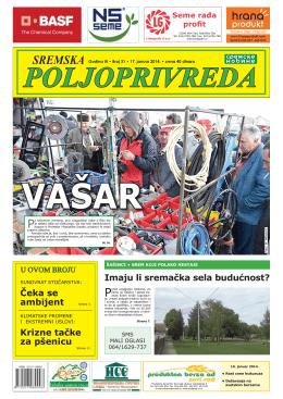 Sremska poljoprivreda broj 31 17. januar 2014.