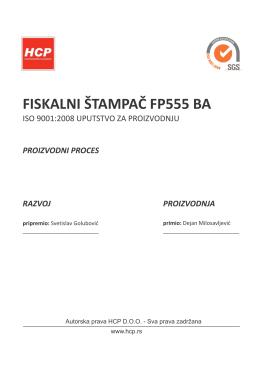 fiskalni štampač fp555 ba
