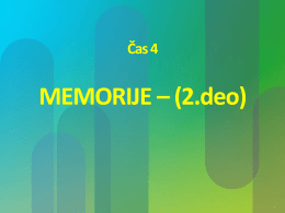MEMORIJE–(2.deo)