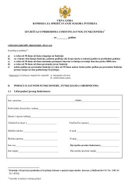Izvještaj o prihodima i imovini javnih funkcionera (PDF)