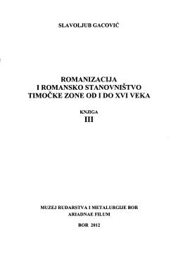 romanizacija iromansko stanovništvo timočke zone