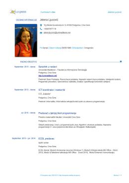 Jelena Ljucović - Fakultet za informacione tehnologije