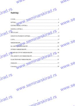 Sadržaj - Seminarski rad