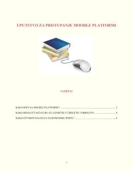 Uputstvo za pristupanje platformi PDF