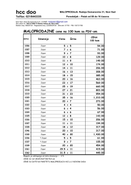 Dimenzije i cene ZIPPER kesa (pdf fajl)