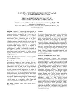 11.1. Digitalna forenzička istraga manipulacije