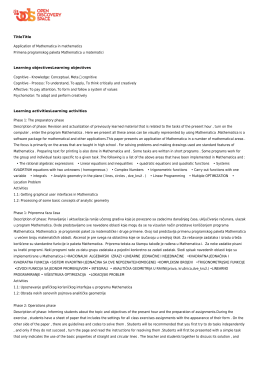 TitleTitle Application of Mathematica in mathematics