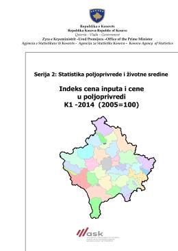 Indeks cena inputa i cene u poljoprivredi K1-2014