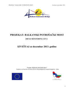 Drugii monitoring cena-Izveštaj,decembar 2013.