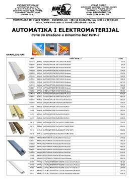 AUTOMATIKA I ELEKTROMATERIJAL