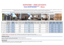 KOPAONIK ~ ZIMA 2014/2015 VILA KOPAONIK****