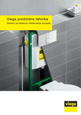 Viega predzidna tehnika. Sistemi za kreativno oblikovanje kupatila.
