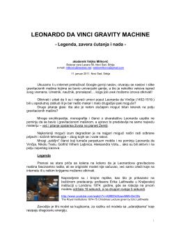 Leonardo da Vinci Gravitaciona mašina