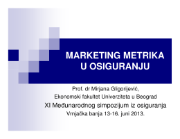 Primena marketing metrike u osiguranju