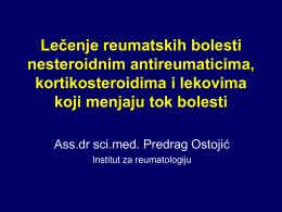 Lečenje reumatskih bolesti nesteroidnim antireumaticima