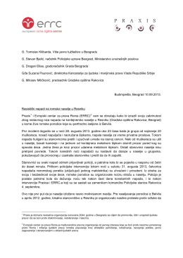 Page 1 G. Tomislav Kilibarda, Više javno tužilaštvo u Beogradu G