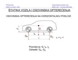 statika vozila i osovinska opterećenja