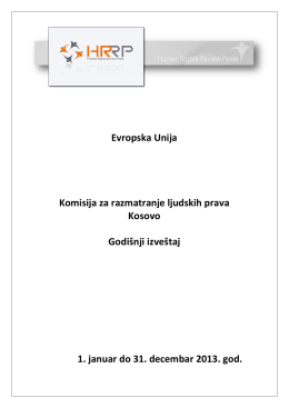 Evropska Unija Komisija za razmatranje ljudskih prava Kosovo