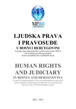Ljudska prava i pravosuđe u BiH 2012/2013