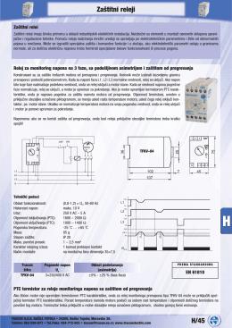H/45 Zaštitni releji