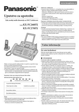 uputstvo na srpskom jeziku