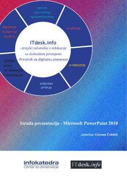 Prezentacije – Microsoft PowerPoint 2010: Link