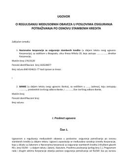 ugovor o regulisanju međusobnih obaveza u poslovima osiguranja