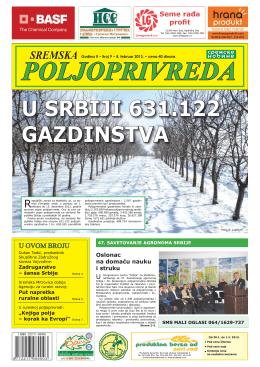 Sremska poljoprivreda broj 9 8.februar 2013.