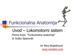 Funkcionalna Anatomija