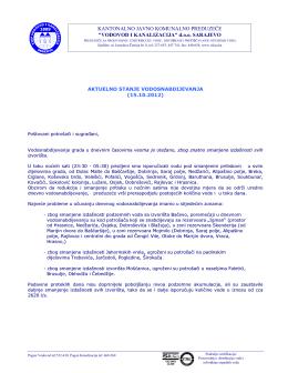 Izvještaj u cijelosti  - KJKP `Vodovod i kanalizacija`