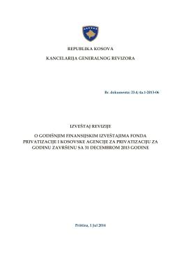 Fond Privatizacije i Kosovska Agencija za Privatizaciju