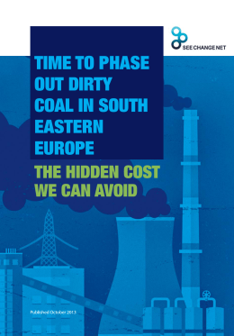 Time to Phase Out Dirty Coal in South Eastern Europe