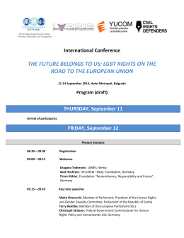THE FUTURE BELONGS TO US: LGBT RIGHTS ON THE
